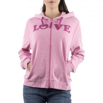 Дамско спортно яке в розово размер L