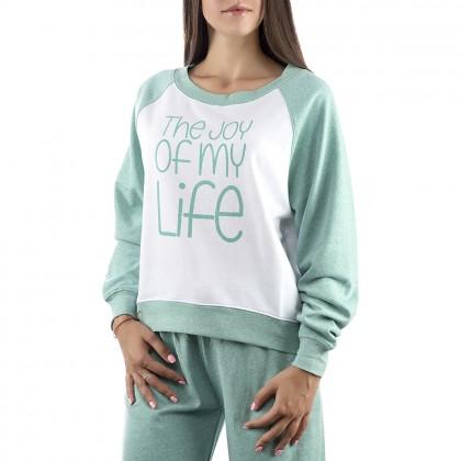 Дамска зелена спортна блуза в размери XL