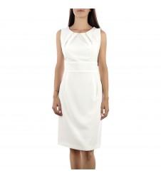 Дамска елегантна бяла рокля 42 размер