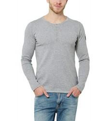 Мъжка сива блуза с дълъг ръкав размер XL