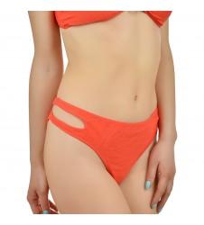 Дамско долнище бански тип бикини в коралов цвят размер 42/XL