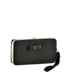 Черна дамска чантичка - портмоне