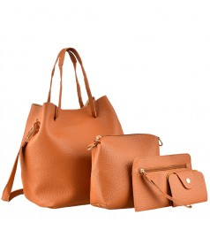 Сет от четири чанти в кафяво