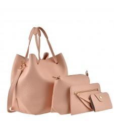 Сет от четири чанти в розово