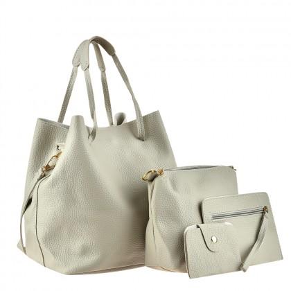 Сет от четири дамски чанти в сиво