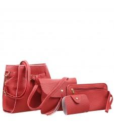 Сет от четири малки червени чанти