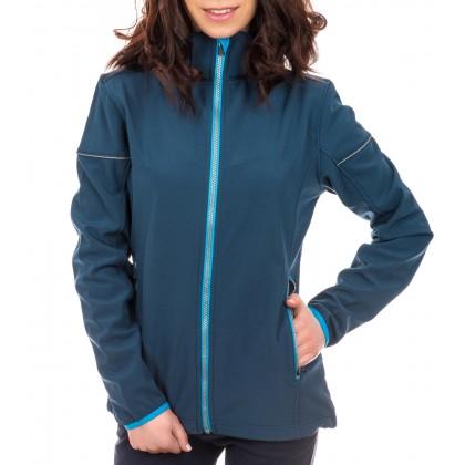 Дамско яке в син цвят с подвижна качулка размер 34/XS