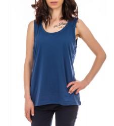 Дамски потник с дебели презрамки син цвят размер S