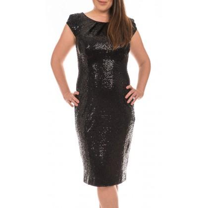 Swing елегантна черна рокля