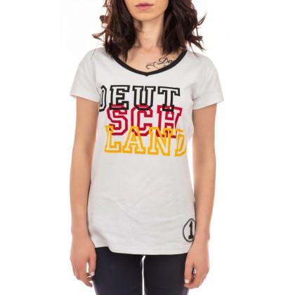 Дамска бяла тениска размер S