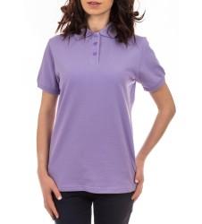 Intimuse дамска тениска с яка и копчета виолетова