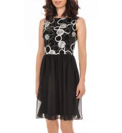 Swing дамска коктейлна рокля без ръкави с пайети