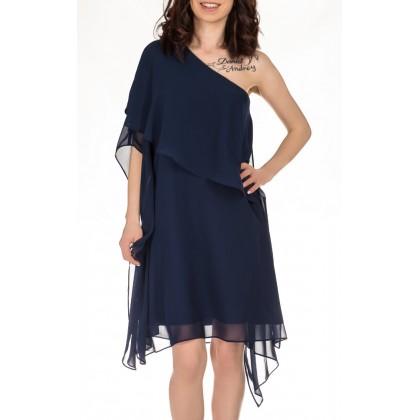 Swing свободна синя рокля с голо рамо