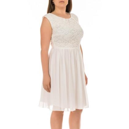 Swing дамска коктейлна рокля с фина флорална украса 40 размер