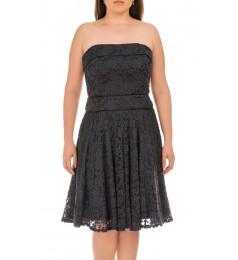 Swing дамска коктейлна рокля без презрамки с деликатна флорална дантела 40 размер