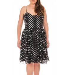Swing дамска рокля на точки с тънки презрамки 40 размер