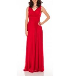 Swing дълга елегантна червена рокля