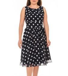 Swing дамска рокля без ръкави с точки 38 размер
