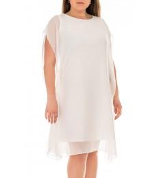 Swing дамска рокля от бял шифон 38 размер