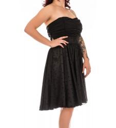 Swing черна дамска рокля с тюл без ръкави размер 4