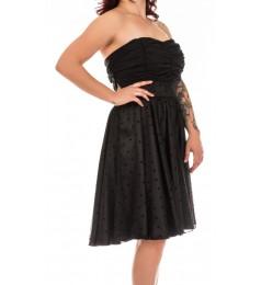 Swing черна дамска рокля с тюл без ръкави размер 44/XL