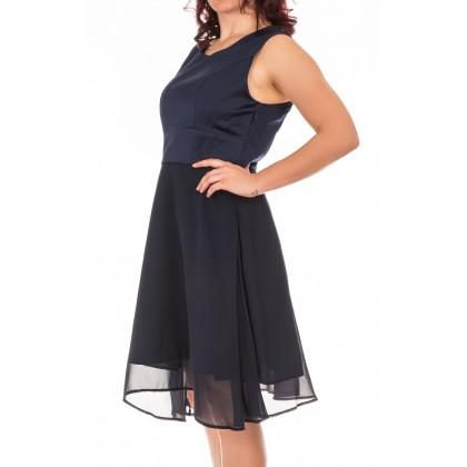 Intimuse елегантна дамска рокля от шифон в тъмно синьо размер 42/L