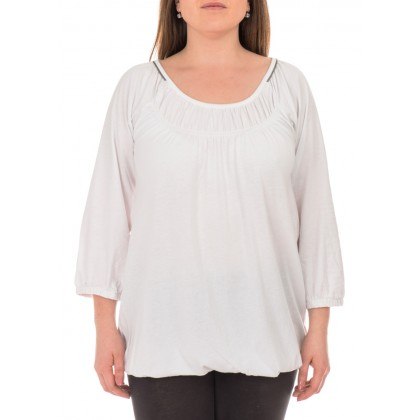 Бяла дамска блуза размер 40/M