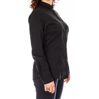 Дамска изчистена черна риза размер 42/L