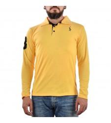 Мъжка жълта блуза с яка размер S