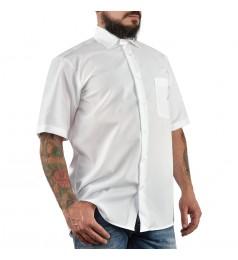 Мъжка бяла риза с къс ръкав М размер