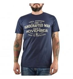 Мъжка тъмносиня тениска с щампа Made in November