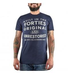 Мъжка тъмносиня тениска с щампа размер M