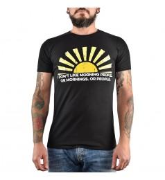 Мъжка тениска Gildan черна с щампа Слънце